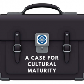 Briefcase with words Cultural Maturity